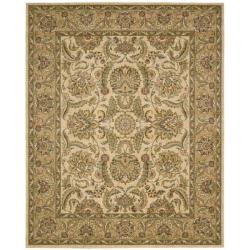 Nourison Antiquities Ivory/Gold Floral Rug - 3'6 x 5'6