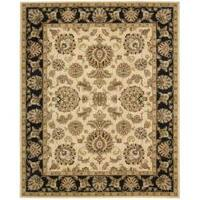 Nourison Antiquities Ivory Black Floral Rug - 3'6 x 5'6