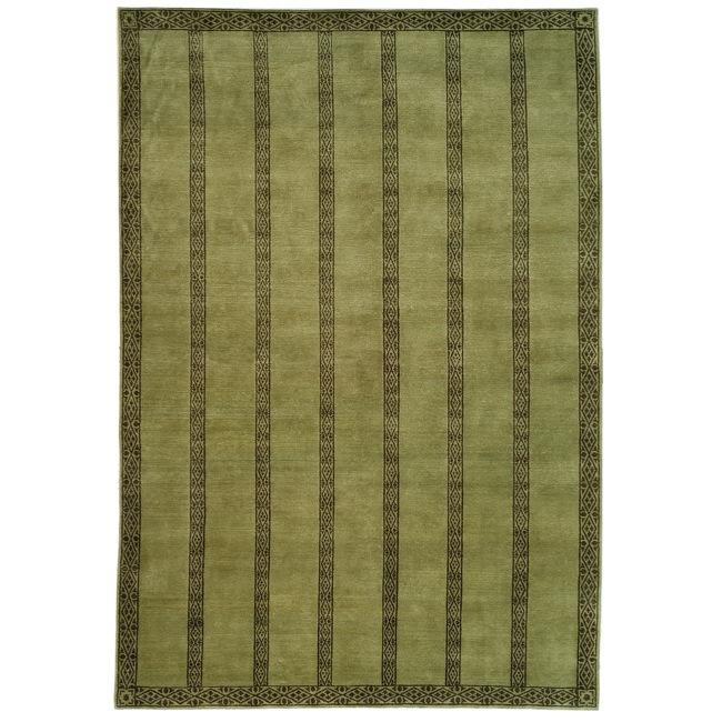 Handmade Thomas O'Brien Marco Olive/ Green Wool Rug - 6' x 9'