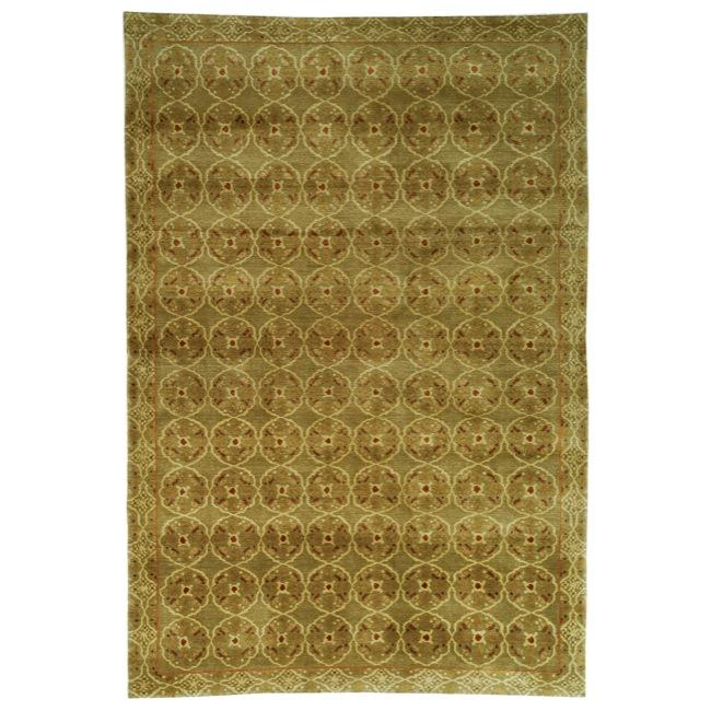 Handmade Thomas O'Brien Caniato Terracotta Wool/ Silk Rug (6' x 9')