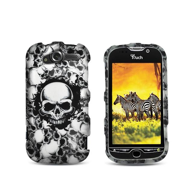 Premium Black Skull Rubberized Case for  HTC myTouch 4G - Thumbnail 0