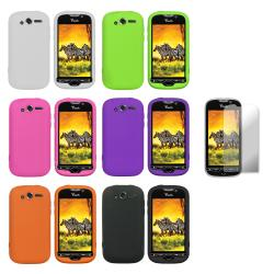 Premium HTC myTouch 4G Silicone Case with Screen Protector - Thumbnail 1