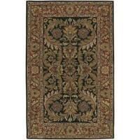 Hand-tufted Grandeur Black Wool Area Rug (3'3 x 5'3)
