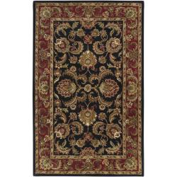 Hand-tufted Grandeur Black Wool Rug (8' x 11')