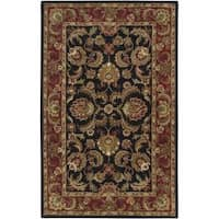 Hand-tufted Grandeur Black Wool Area Rug - 9' x 13'
