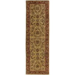 Hand-tufted Grandeur Gold Wool Rug (2'6 x 8')