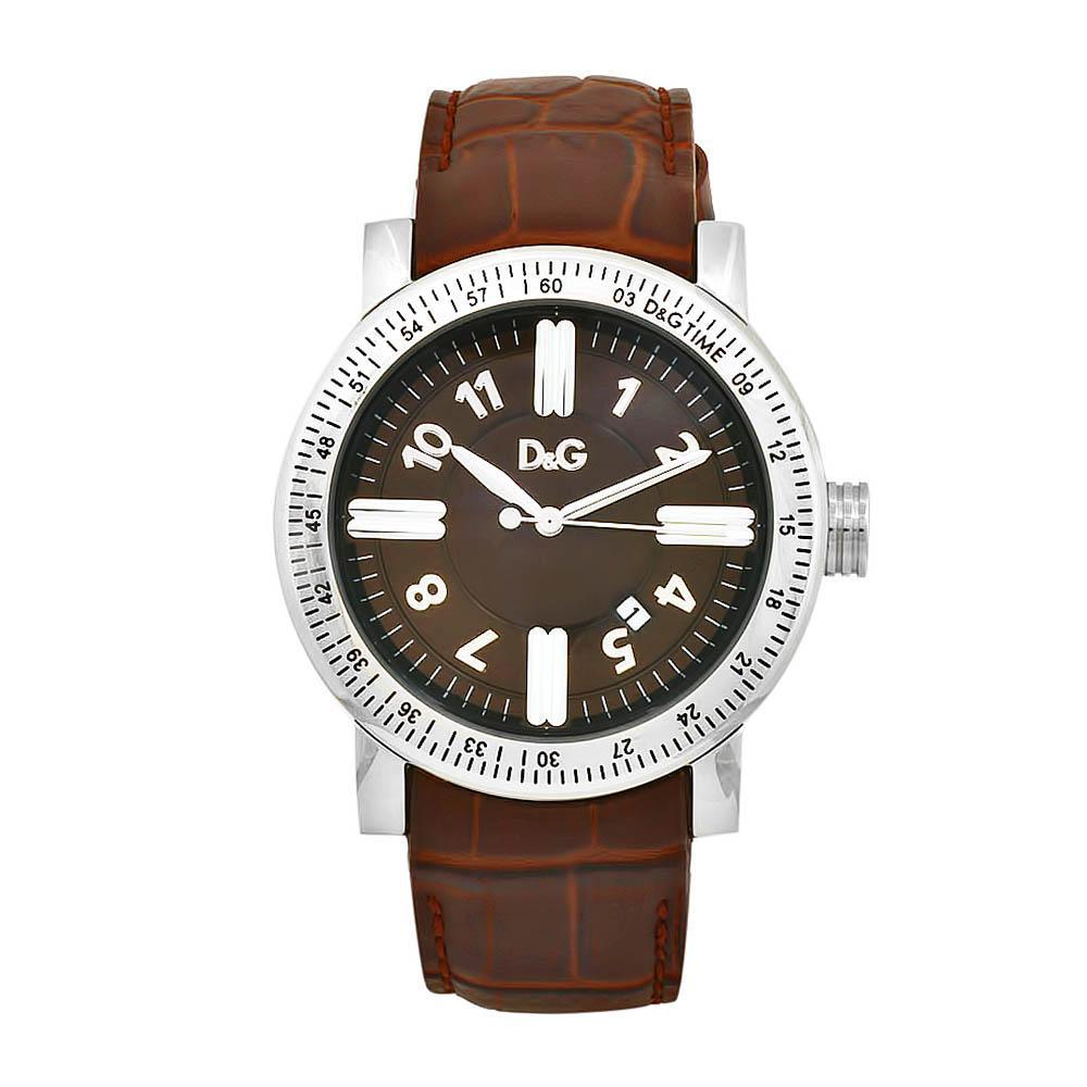 dolce gabbana men s genteel brown leather strap brown dial watch dolce gabbana men s genteel brown leather strap brown dial watch