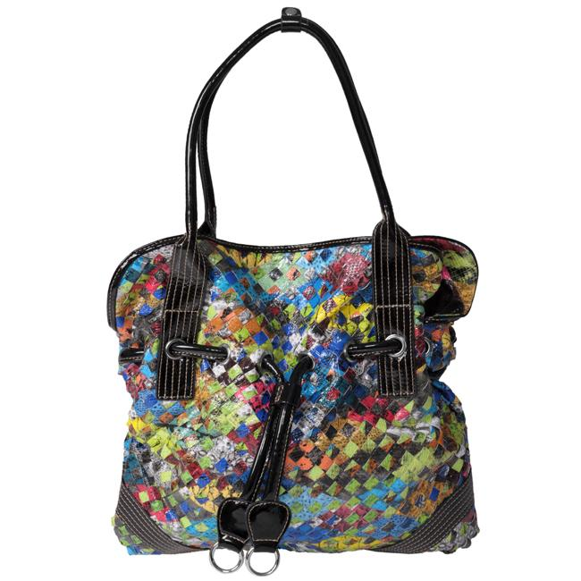Journee Collection Multicolor Weaved Tote Bag