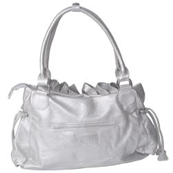 Journee Collection Ruffled Accent Tote Bag - Thumbnail 1