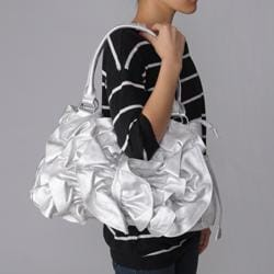 Journee Collection Ruffled Accent Tote Bag - Thumbnail 2