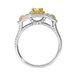 14k Two-tone Gold 1 1/5ct TDW Yellow and White Diamond Ring (G-H, SI1) - Thumbnail 1