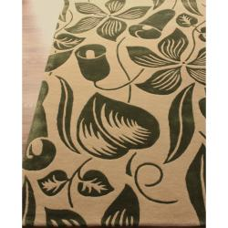 nuLOOM Handmade Modern Premium Wool Green Essence Rug (7'6 x 9'6) - Thumbnail 1