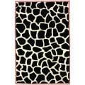 nuLOOM Handmade Modern Premium Wool Black Bold Giraffe Rug - 5' x 8'