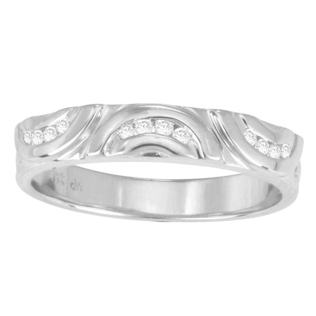 Sterling Silver 1/10ct TDW Diamond Band (H-I, I3)