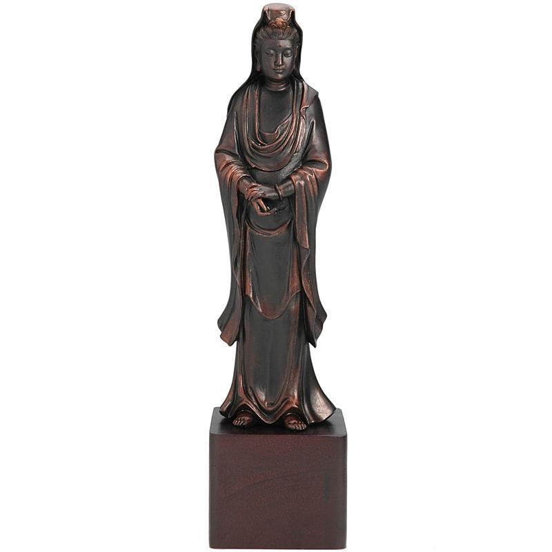 Resin 12-inch Standing Kwan Yin Statue (China)