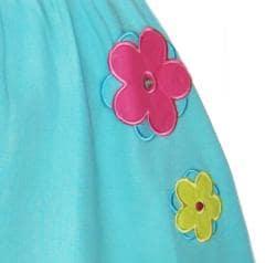 Ann Loren Girl's Two-piece Tie Dyed Capri Set