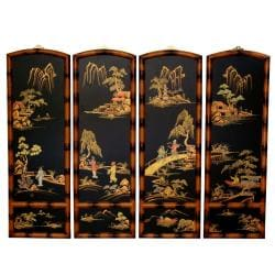 Wooden 3-foot Ching Wall Plaques (China)
