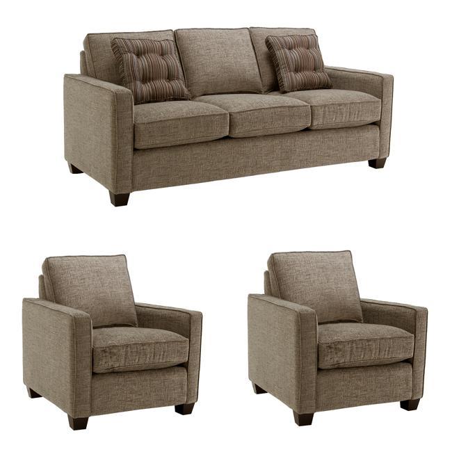 Fantastic Jameson Gray Stone Fabric Sofa And Two Chairs Inzonedesignstudio Interior Chair Design Inzonedesignstudiocom