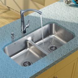 VIGO Andromeda Swan Neck Single-hole Kitchen Faucet - Thumbnail 1