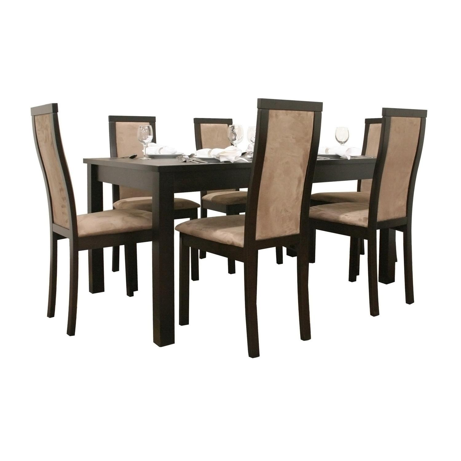 Pollard 7-piece Dark Brown Modern Dining Set
