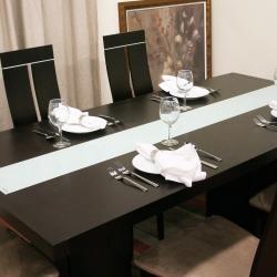 Magness 8-piece Dark Brown Modern Dining Set