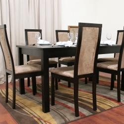 Pollard 7-piece Dark Brown Modern Dining Set - Thumbnail 2