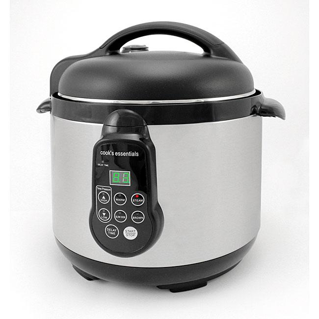 Pressure Cooker 8 Qt Cooks Essentials 99700 5-qt Electric Pressure Cooker ...