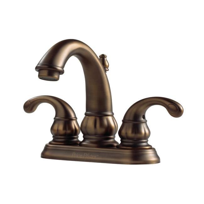 price pfister treviso velvet aged bronze centerset bathroom faucet