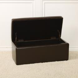 chocolate brown bench storage ottoman free shipping today