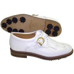the cheapest brand new new arrival Shop Aerogreen Ladies White Classic Buckle Golf Shoes - Free ...