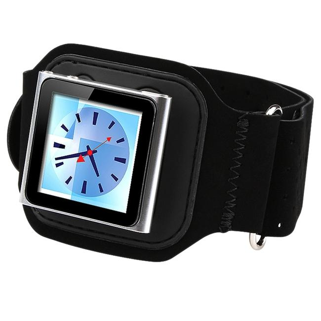 Black Suede Armband for Apple iPod Nano 6th Gen