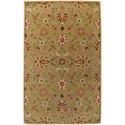 Hand-tufted Augusta Gold Wool Rug (3'3 x 5'3)