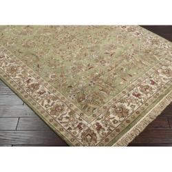 Hand-knotted Finial Desert Sage Wool Rug (3'6 x 5'6)