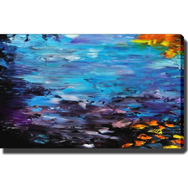 'Abstract Lake Impression' Giclee Print Canvas Art
