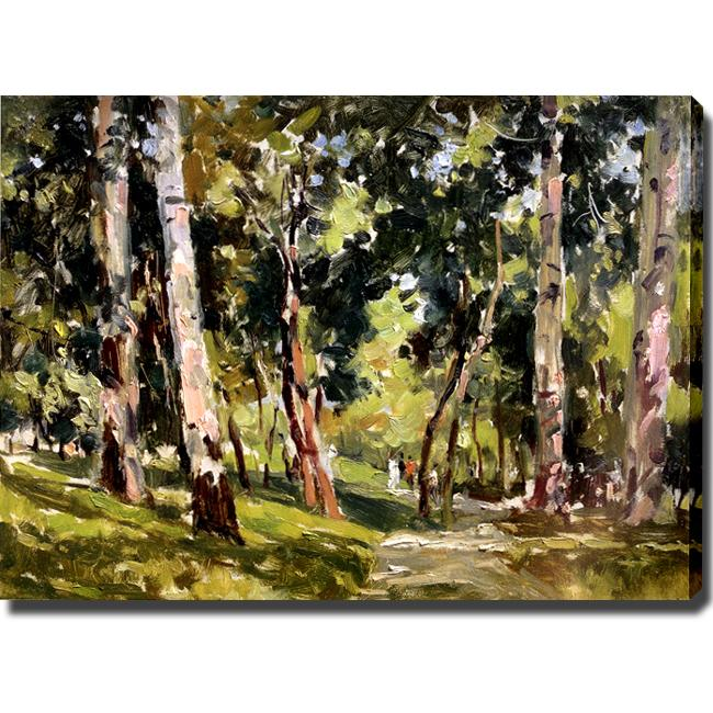 'Forest' Giclee Canvas Art with Oil Brush