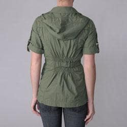 Ci Sono by Journee Juniors Zippered Short-sleeve Jacket - Thumbnail 1