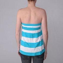 Ci Sono by Journee Juniors Striped Sleeveless Empire Waist Tunic Top