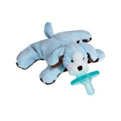 WubbaNub Sweet Chocolate Puppy Blue Pacifier