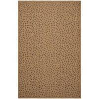 """Safavieh Courtyard Natural/ Leopard Print Indoor/ Outdoor Rug - 2'7"""" x 5'"""