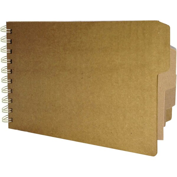 """Bare Booklets Spiral Bound Mixed Media Album 5.5""""X8.5""""-Tilly's Tabs"""
