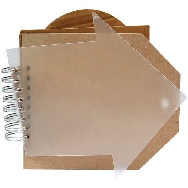 "Bare Booklets Spiral Bound Mixed Media Album 8""X8""-Rowdy Roadster"