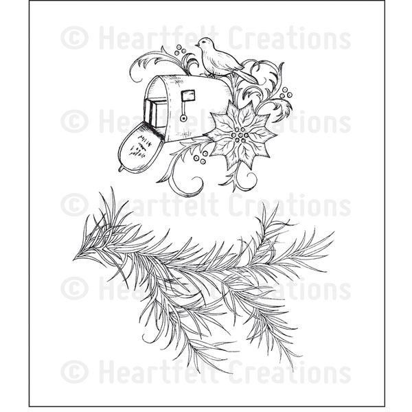 Heartfelt Creations 'Holiday Mail' 5x6.5-inch Cling Rubber Stamp Set