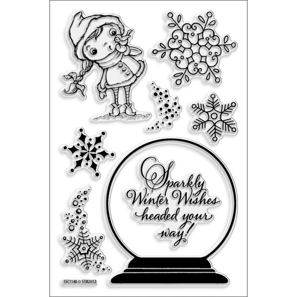 Stampendous 'Snowglobe Kiddo' 4x6-inch Perfectly Clear Stamps