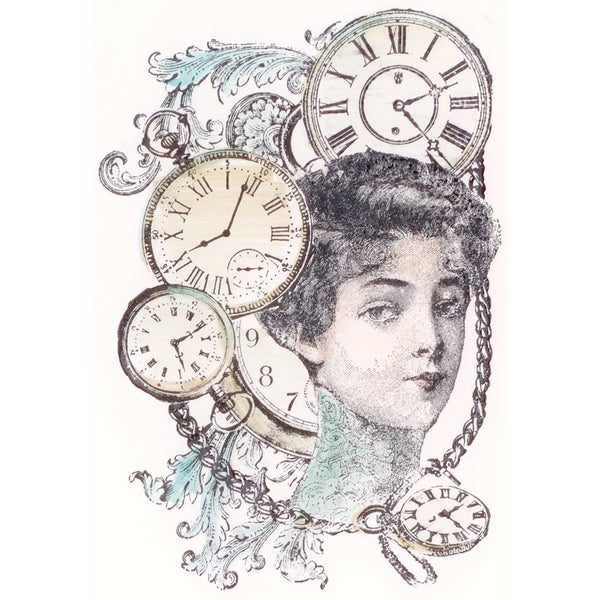 """LaBlanche Silicone Stamp 3.5""""X5.5""""-Woman Collage"""