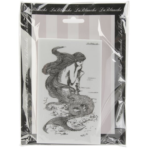 "LaBlanche Silicone Stamp 3""X5.5""-Musing Mermaid"