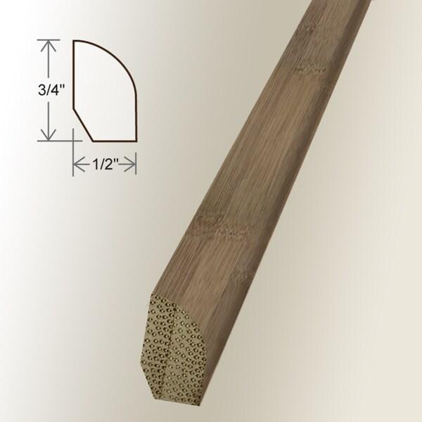 Unfinished Carbonized Horizontal Base Shoe Moldings (Set of 5)