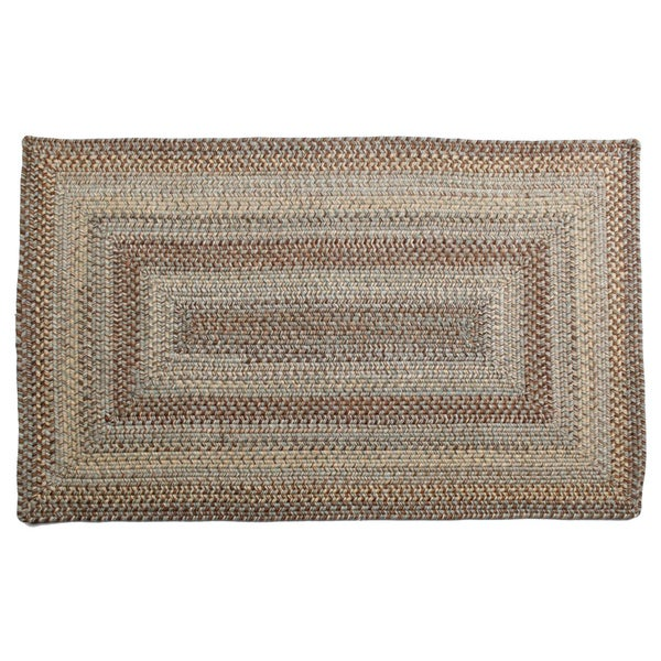 Aquamarine Braided Wool Rug (2'3 x 3'9)