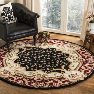 Safavieh Handmade Garden Scrolls Black New Zealand Wool Rug