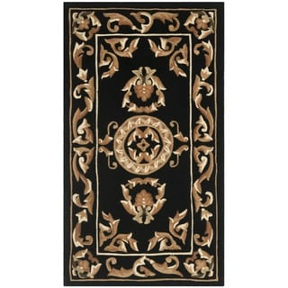 Safavieh Handmade Gardens Black New Zealand Wool Rug