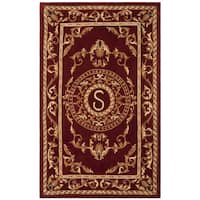 Safavieh Handmade Monogram S Red New Zealand Wool Rug